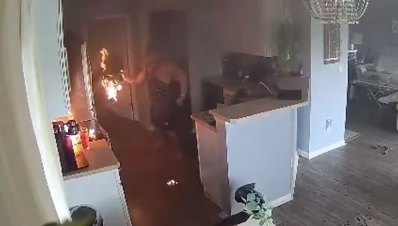Una niña de cuatro años salvó su casa cuando le avisó a su padre de un incendio en la cocina (Foto: 4JAX)