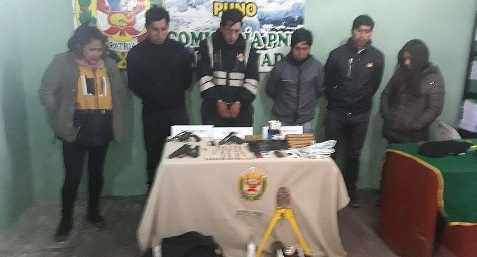 Capturan a peligrosa banda de asaltantes en centro minero La Rinconada