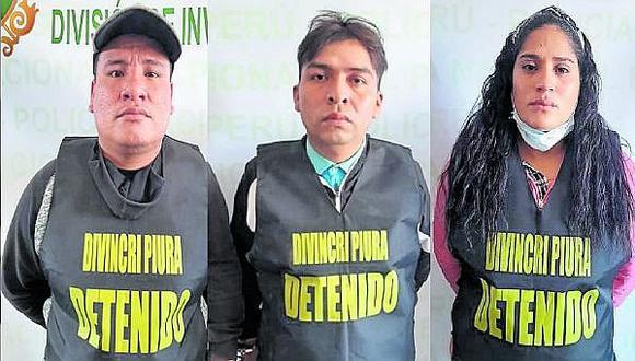 Piura: Capturan a tres extorsionadores