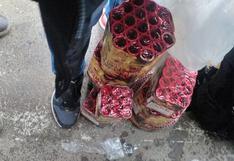Hallan fuegos artificiales caletas en Huancavelica