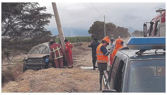 Arturo Alva Burga manejaba su vehículo que impactó contra estructura en el centro poblado Capellanía, en el distrito de Nepeña.