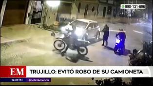 Hombre fue capaz de evitar que cuatro delincuentes le robaran su camioneta en Trujillo (VIDEO)