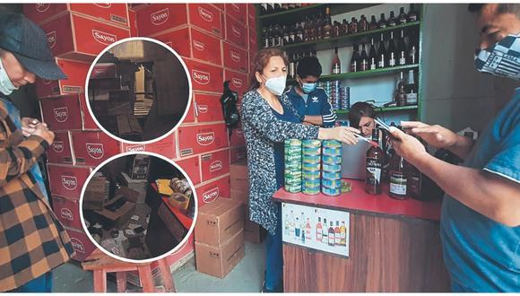 Forzaron las puertas e hicieron forados para llevarse abarrotes de dos tiendas ubicadas cerca del Mercado Moshoqueque.