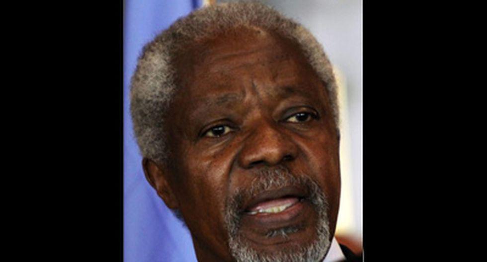 Kofi Annan renuncia como enviado especial de la ONU a Siria