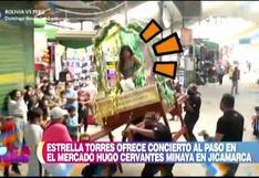 Estrella Torres casi se cae cuando ofrecía concierto al paso en Jicamarca