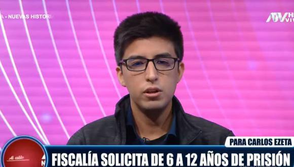 Carlos Ezeta cuestionó que se haya pedido hasta 12 años de cárcel para él por agredir a legislador Ricardo Burga. (ATV)