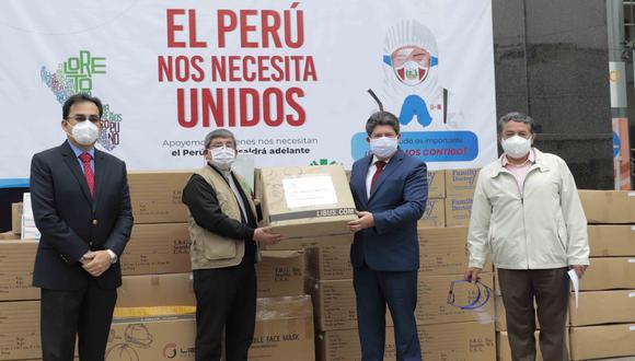 """Campaña """"El Perú nos necesita unidos"""" entregó equipos de protección en cuatro regiones. (Foto: CCL)"""