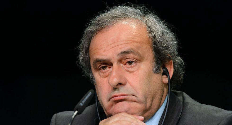 Michel Platini renunció a su candidatura a la presidencia de la FIFA