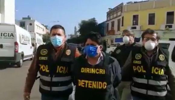 Capturan a exgobernador regional de Pasco, Klever Uribe Melendez