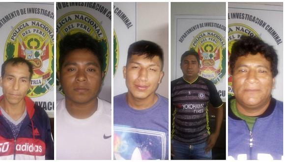 """Policía interviene a cinco presuntos integrantes de la banda """"Los Casineros"""""""