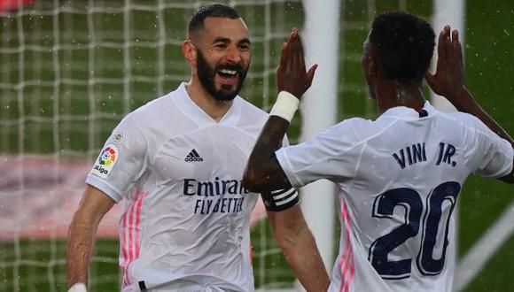 Real Madrid es segundo en LaLiga Santander, con 66 puntos, uno menos que Atlético de Madrid. (Foto: AFP)
