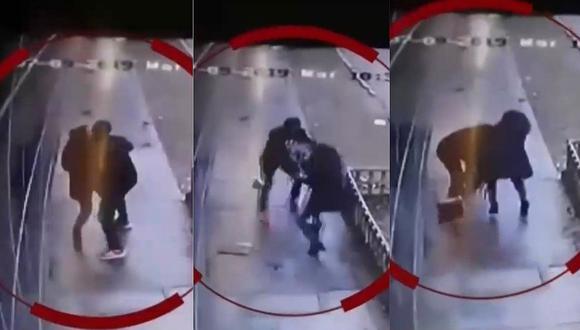 Mujer puso en peligro su vida tras forcejar con delincuente para evitar que le roben (VIDEO)