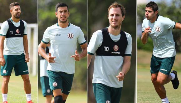 Luis Urruti, Federico Alonso, Hernán Novick y Aldo Corzo entrenaron con Universitario. (Foto: Universitario de Deportes)