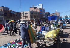 Cantidad de comerciantes ambulantes se duplicó en calles de Juliaca
