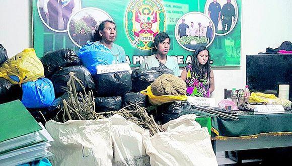 Chimbote: Piden cárcel preventiva para seis detenidos con más de 100 kilos de marihuana