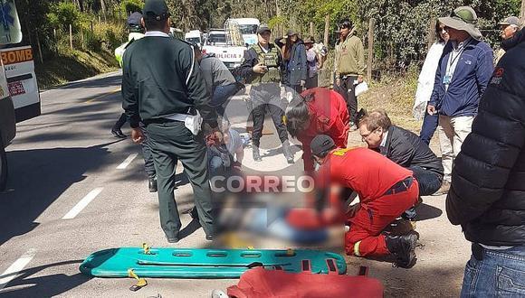 Cusco: Dos turistas fallecieron tras accidente en Sacsayhuamán (FOTOS)
