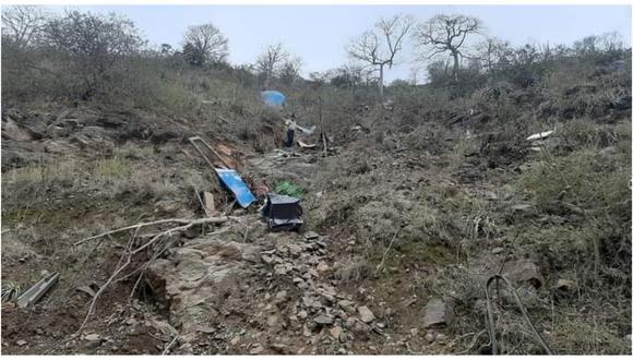 """Accidente de tránsito se registró en el """"Balcón del Diablo"""" en el tramo Chagual-desvió a Chillia, en la sierra de La Libertad . (Foto: Cortesía)"""