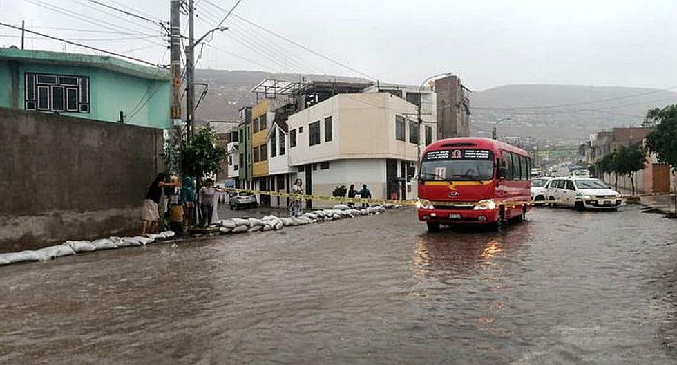 Ciudad de Tacna colapsa por intensas lluvias
