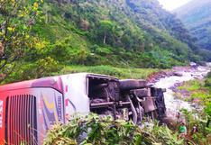 Despiste y volcadura de bus deja ocho heridos en la carretera Interoceánica