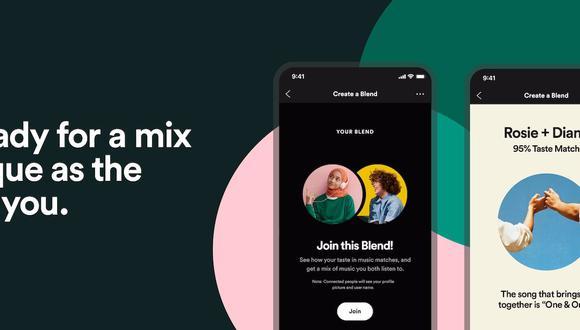 Entre las principales características y novedades de esta nueva funcionalidad se encuentra la coincidencia de gustos, ya que los usuarios que creen una lista Fusión obtendrán ahora una puntuación de coincidencia de gustos a la hora de escuchar música y contenidos. (Spotify / Europa Press)