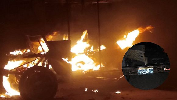 Vecinos queman mototaxi de hampones que asaltaron a dos mujeres