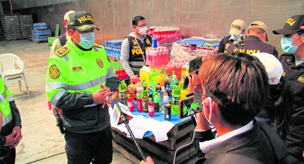 En almacén clandestino de Huancayo  tenían 60 toneladas de bebidas vencidas
