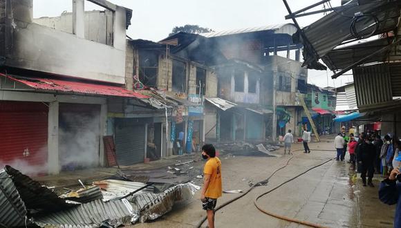 Madre de Dios: quince familias afectadas tras incendio en Puerto Rosario (Foto: Juan Sequeiros).
