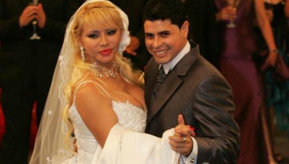 Susy Díaz y 'Andy V' cuando se casaron. (Foto: Difusión)