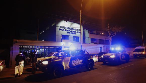 Comisaría donde ocurrieron los hechos. Fotos: Cesar Grados / @photo.gec