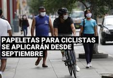 Papeletas para ciclistas se aplicarán desde el 3 de septiembre