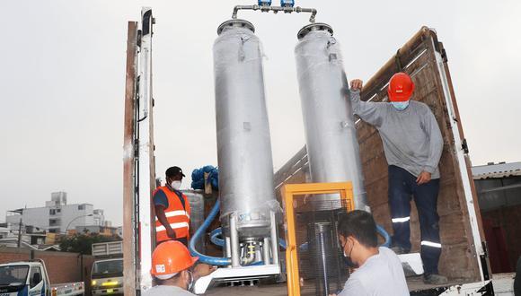 Áncash: La planta fue donada por la comuna de Huarmey, como parte de los compromisos asumidos con el hospital. (Municipalidad de Huarmey)