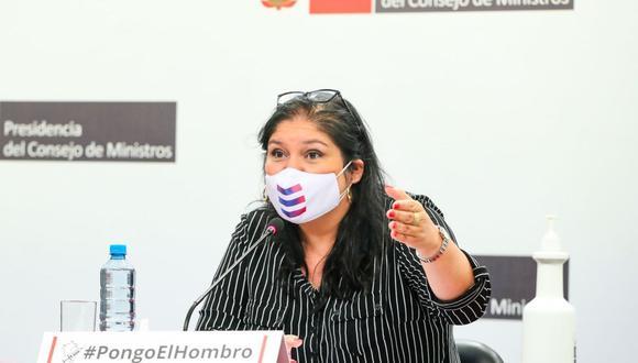 La ministra de Defensa, Nuria Esparch, hará un balance de su gestión. (Foto: Andina)