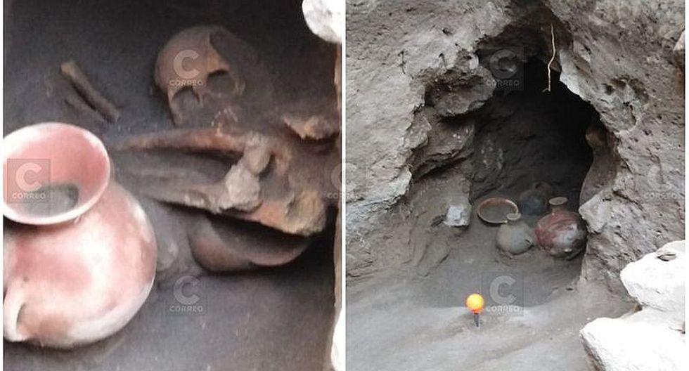 Encuentran tres momias preincas en el Centro Histórico de Arequipa (FOTOS)