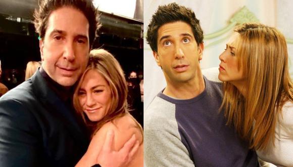 Jennifer Aniston y David Schwimmer habrían iniciado una relación sentimental. (Foto: @_schwim_/NBC).