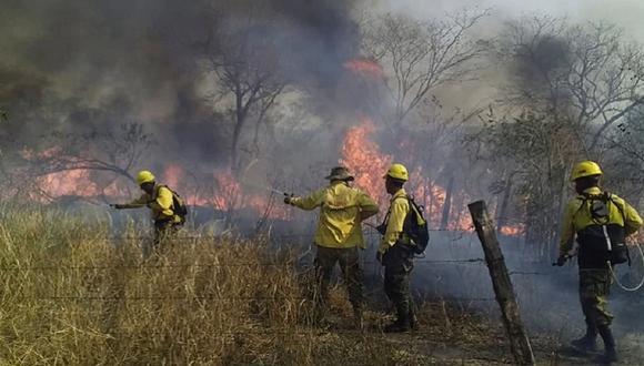 Bolivia recibe ayuda de Francia para apagar incendios en región amazónica