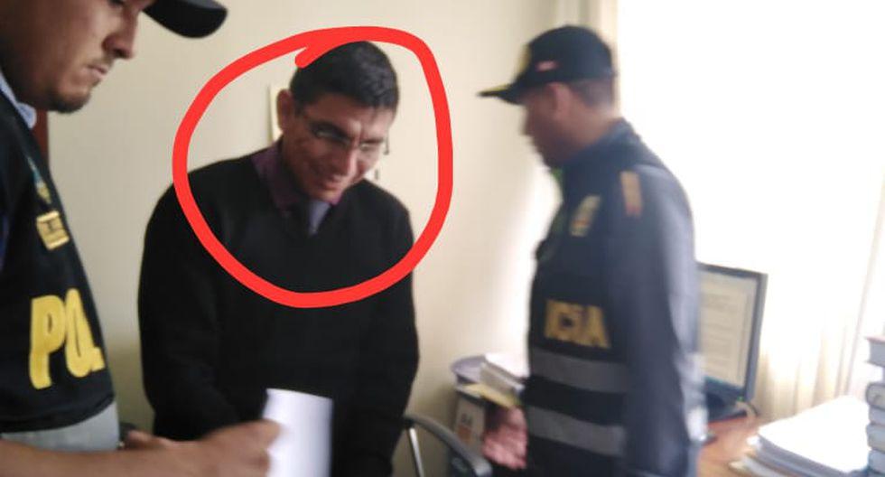 Amazonas. Fiscal adjunto Shakespeare Cruz fue detenido en su oficina. (Ministerio Público)