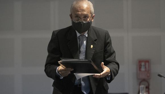 Pedro Chávarry se presentó este miércoles ante el pleno de la Junta Nacional de Justicia para expresar sus descargos. (Foto: GEC)