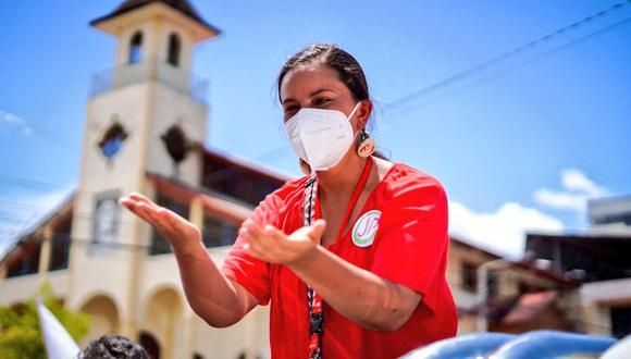 Verónika Mendoza saludó la labor de la Policía y FF.AA. desde Ica. (Foto: Twitter Verónika Mendoza)