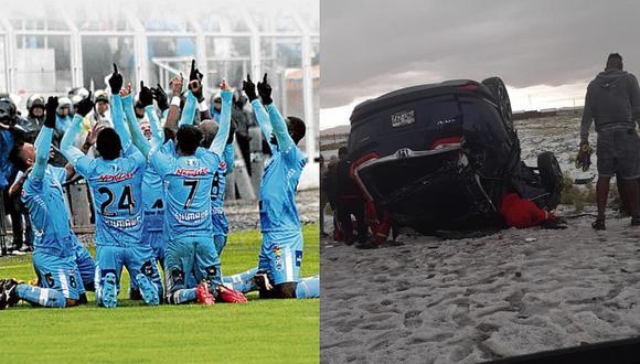 Jugadores de Binacional sufrieron accidente vehicular en Puno (FOTO)