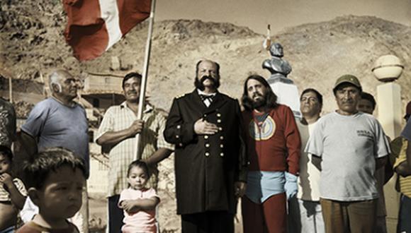 """La muestra incluye imágenes de las series """"De Lima a Talcahuano"""" de Fernando Gutiérrez 'Huanchaco' y """"Campos de batalla"""" de Roberto Huarcaya. (Foto: CCPUCP)"""