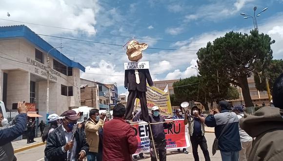 La paralización también se dejó notar en provincias del sur de la región Puno.