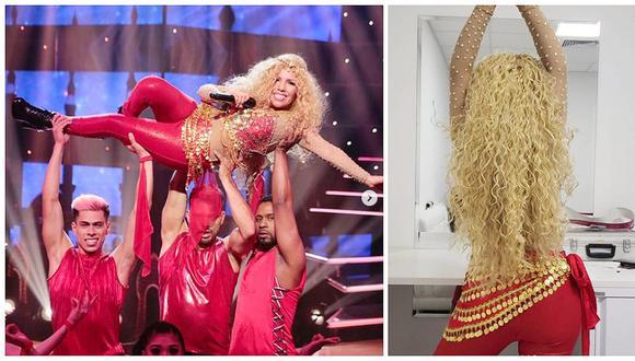 Susan Ochoa se caracterizó como Shakira y sorprende con su presentación en 'El Artista del Año' (VIDEO)