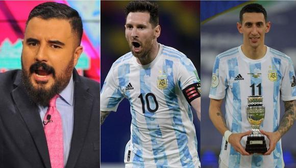 Periodista mexicano tuvo duros comentarios contra Lionel Messi.   Foto: Composición.