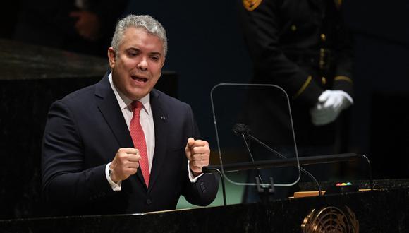 La vicepresidenta venezolana señaló que Iván Duque habría cometido delitos de lesa humanidad contra los migrantes venezolanos. (Foto: TIMOTHY A. CLARY / AFP)