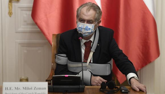 El presidente de República Checa, Milos Zeman, hospitalizado por segunda vez en un mes. (Foto: Ondrej Deml / AFP)