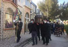 Despiden al consejero por Moho, Héctor Coaquira, fallecido en Juliaca