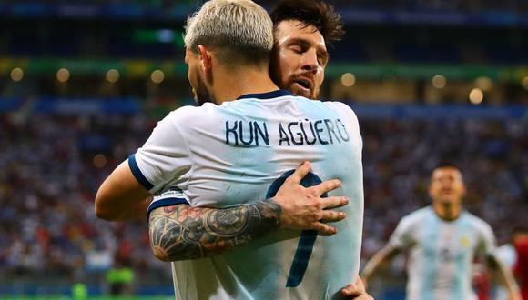 Sergio Agüero y Lionel Messi  comparten en la Selección Argentina. (Foto: EFE)