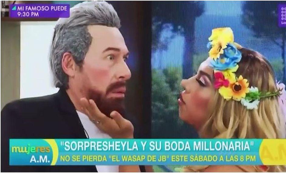 Anuncian parodia de Sheyla Rojas y Pedro Moral en 'El Wasap de JB' (VIDEO)