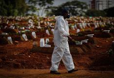 Brasil: promedio de muertes por coronavirus cae a su menor nivel en cinco meses