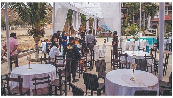 Serenazgo frustra evento que se desarrollaba en un hotel frente al mar, en Contralmirante Villar.